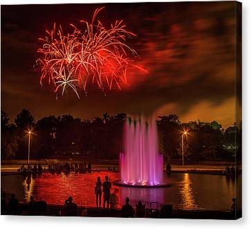 Fair St Louis 4th Of July Fireworks Canvas Print by Garry McMichael
