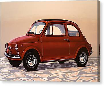 Fiat 500 1957 Painting Canvas Print by Paul Meijering