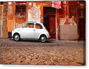 Fiat 500 Canvas Print by Valentino Visentini