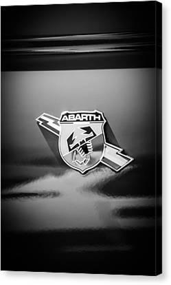 Fiat Abarth Emblem -ck1611bw Canvas Print