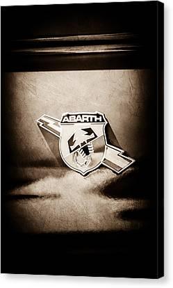 Fiat Abarth Emblem -ck1611s1 Canvas Print