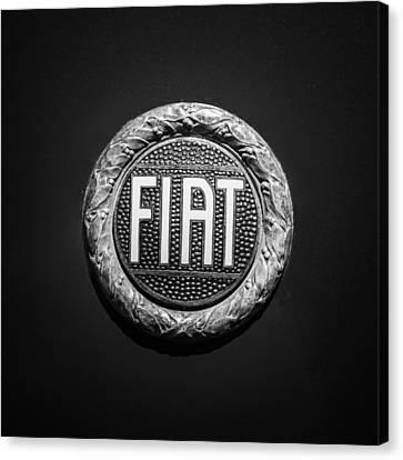 Fiat Emblem -1621bw Canvas Print