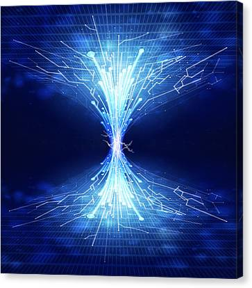 Fiber Optics And Circuit Board Canvas Print
