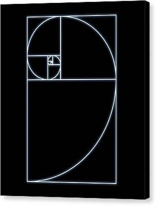 Fibonacci Spiral, Artwork Canvas Print by Seymour