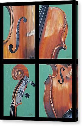 Fiddle Quartet Canvas Print by Emily Page