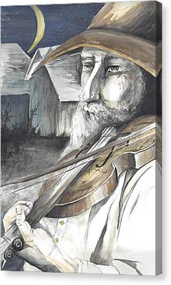 Fiddler Canvas Print by Colleen Stiles