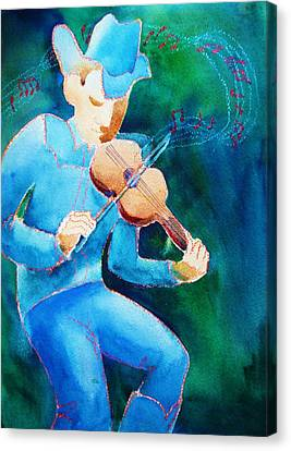 Fiddler Canvas Print by Marilyn Jacobson