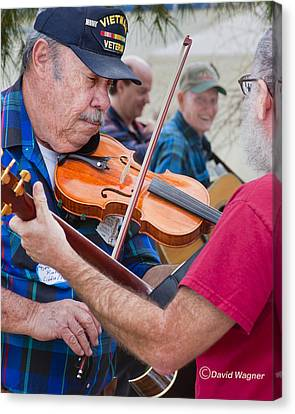 Fiddlers Contest Canvas Print by David Wagner