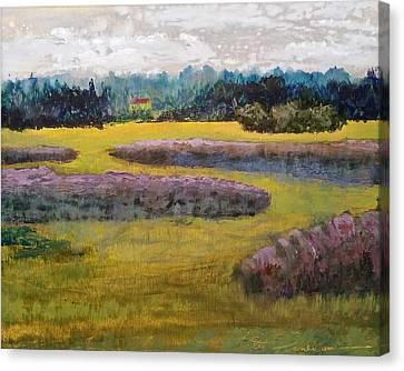 Fiddlers Ridge Marsh Canvas Print by Peter Senesac