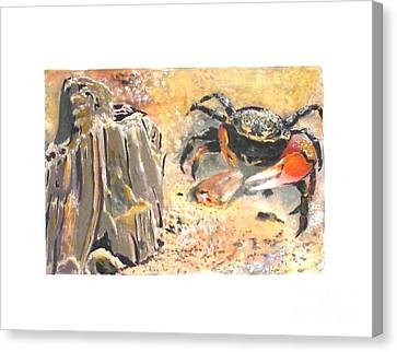 Canvas Print featuring the painting Fiddling Around by Sibby S