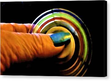 Canvas Print featuring the photograph Fidgets by Denise Fulmer