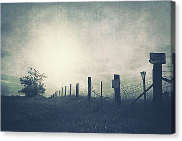 Field Beyond The Fence Canvas Print