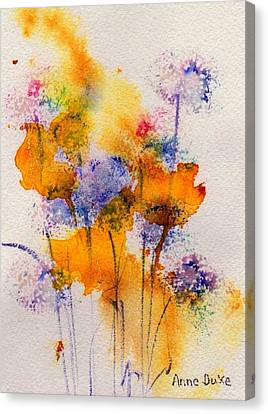 Field Flowers Canvas Print by Anne Duke