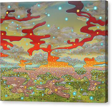 Surreal Landscape Canvas Print - Field Marshals by Jon Carroll Otterson