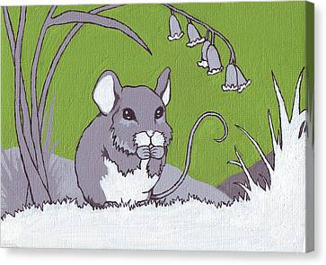 Field Mouse Canvas Print by Sarah Webb