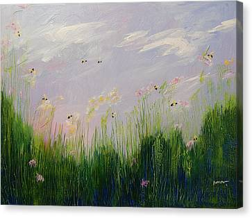 Field Of Bee's Canvas Print by Sue Furrow
