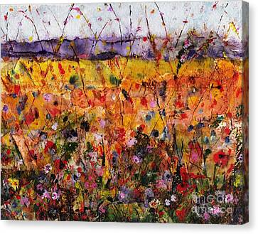 Abstact Landscapes Canvas Print - Field Of Dreams by Frances Marino