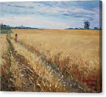 Field Of Grain In Georgetown On Canvas Print