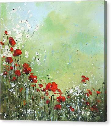 Canvas Print featuring the painting Field Of Imagination by Laura Lee Zanghetti