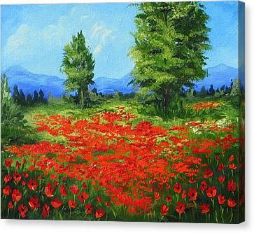 Field Of Poppies IIi Canvas Print by Torrie Smiley