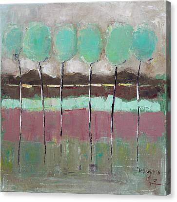 Pallet Knife Canvas Print - Going Out by Becky Kim