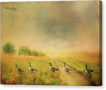 Canvas Print featuring the photograph Field Trip by Wallaroo Images