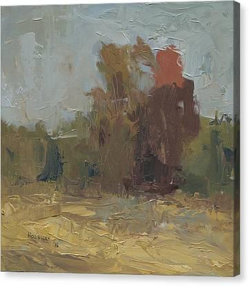 Fields Edge In Autumn Canvas Print