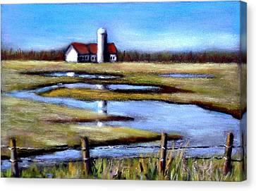 Fields In Spring Canvas Print by Joyce Geleynse
