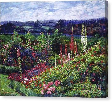 Fields Of Floral Splendor Canvas Print by David Lloyd Glover