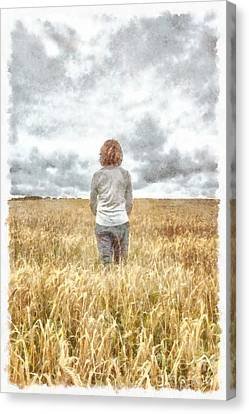 Standing Canvas Print - Fields Of Gold by Edward Fielding