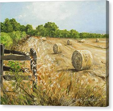 Fields Of Hay Canvas Print