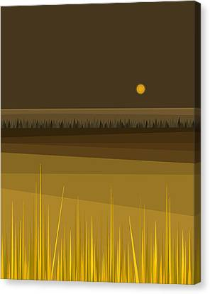 Fields Canvas Print by Val Arie