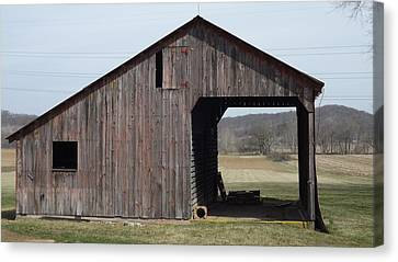 Fieldshed Canvas Print by Don Koester
