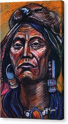 Fierce Warrior Canvas Print by John Keaton