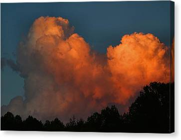 Fiery Cumulus Canvas Print