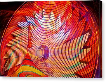 Canvas Print featuring the photograph Fiery Ferris Wheel by David Lee Thompson