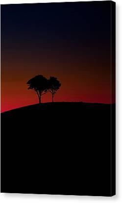 Fiery Canvas Print - Dancing In The Dark by Az Jackson