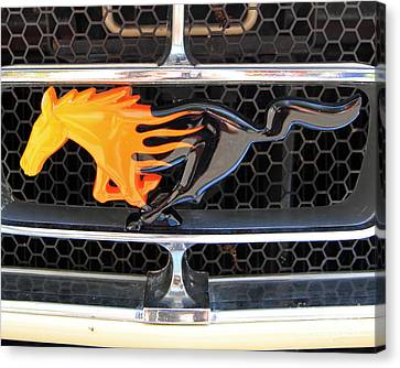 Fiery Mustang Canvas Print
