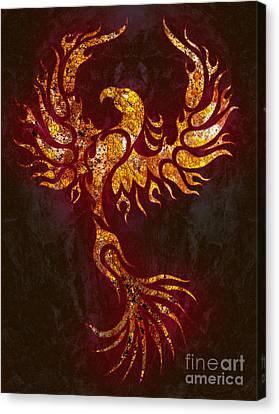 Fiery Canvas Print - Fiery Phoenix by Robert Ball