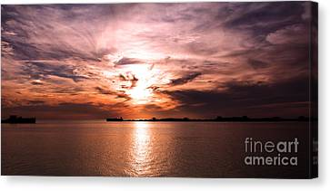 Fiery Tranquility  Canvas Print by Rebecca Davis