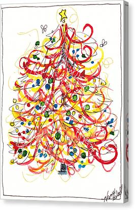 Fiesta Christmas Tree Canvas Print by Michele Hollister - for Nancy Asbell