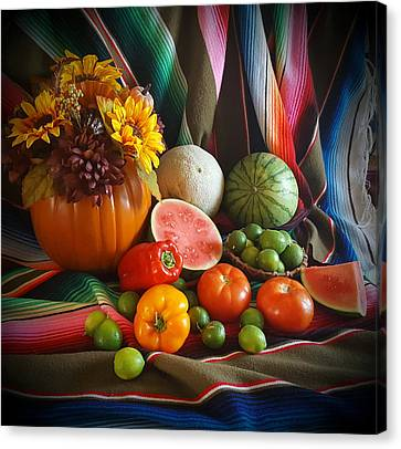 Canvas Print featuring the painting Fiesta Fall Harvest by Marilyn Smith