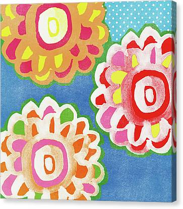 Fiesta Floral 3- Art By Linda Woods Canvas Print