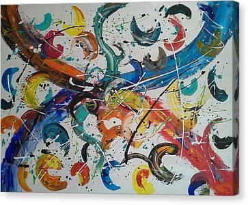 Fiesta White Canvas Print