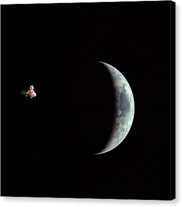 Fifi In Space Canvas Print by Michael Ledray