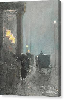 Fifth Avenue, Evening Canvas Print