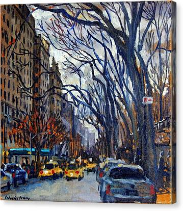 Fifth Avenue In November Canvas Print by Thor Wickstrom
