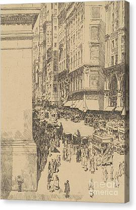 Fifth Avenue, Noon, 1916  Canvas Print