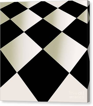 Fifties Kitchen Checkerboard Floor Canvas Print by Mindy Sommers