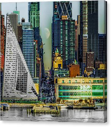 Canvas Print featuring the photograph Fifty-seventh Street Fantasy by Chris Lord